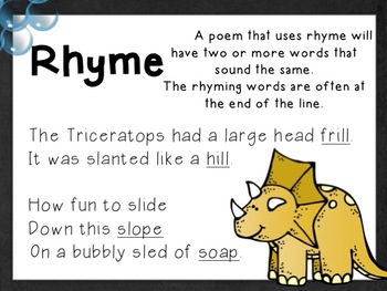 Poetry PPT - Dinosaurs Dig Poems - Literary Devices in Poetry