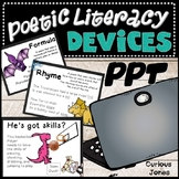 Literary Devices in Poetry Power Point - Dinosaur Theme Poems