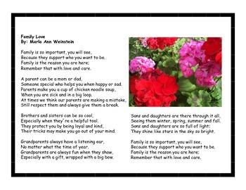 Poetry Pack Celebrating Family Love
