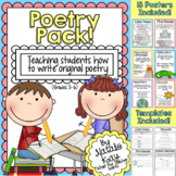 Poetry Pack - Teaching Students to Write Original Poems - Poetry Writing Unit
