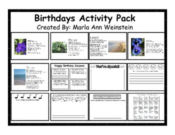 Birthdays Activity Pack