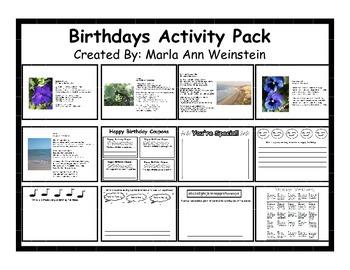 Birthdays Activity Pack