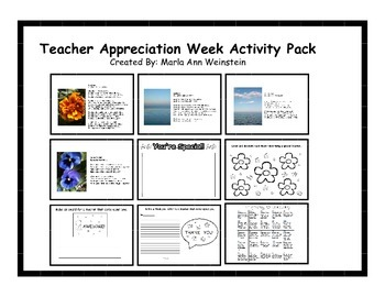Teacher Appreciation Activity Pack