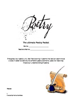 Ultimate Poetry Unit Packet