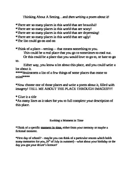 Poetry Packet- 35 Poetry Formats W/Samples