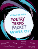 Poetry Packet ANSWER KEY