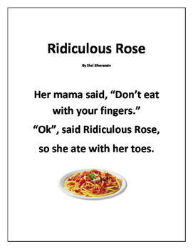 Poetry Packet, Ridiculous Rose by Shel Silverstein