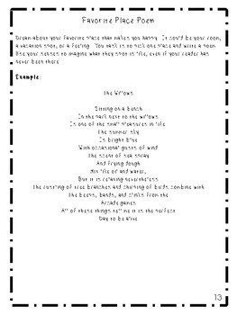 Poetry Packet- Writing and Figurative Lanugage