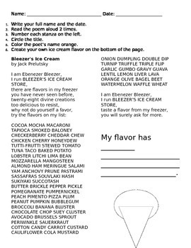 Poetry Packet for 2nd and 3rd Grade, Includes Common Core Exemplar Poems