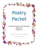 Poetry Packet for 2nd and 3rd Grade, Includes Common Core