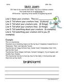 Poetry Packet for Elementary and Middle School with Rubrics