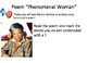 "Poetry Pair:  Alicia Keys ""Superwoman"" and Maya Angelou ""Phenomenal Woman"""