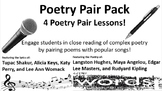 Poetry Pair Pack:  Lessons based on 4 popular songs paired with 4 famous poems