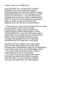 Poetry Pairing: Macbeth and Wilfred Owen