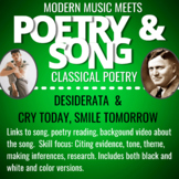 Poem Song Pairings 2: Classical Poetry and Modern Music