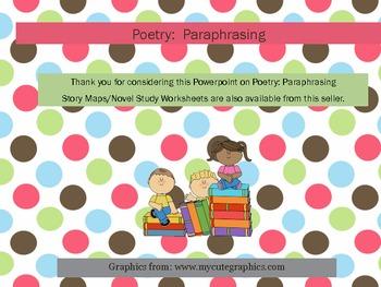 Poetry: Paraphrasing