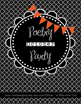 Poetry Party October 100% BLACKLINE workshop or work on writing activity!