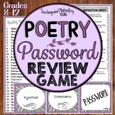 Literary Devices Game - Poetic Terms and Figurative Language Password