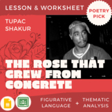 """Poetry Pick: """"The Rose that Grew from Concrete"""" Lesson & W"""