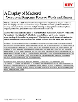 Poetry Analysis and Close Reading: A Display of Mackerel by Mark Doty