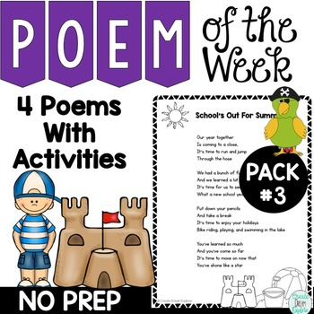 Poetry and Activities for Poem of the Week