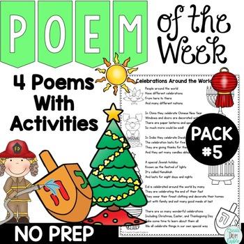 Poem of the Week Activities and Original Poetry