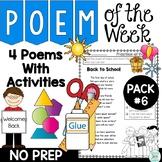 Poem of the Week Activities with Original Poetry Pack 6