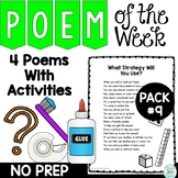 Poem of the Week Activities with Original Poetry Pack 9