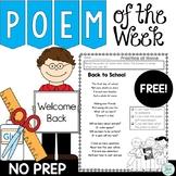 Back To School Poem of the Week