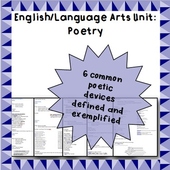 Poetry - Poetic devices: Notes and applications