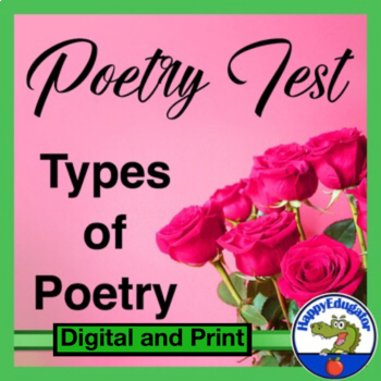 Poetry - Poetry Types TEST