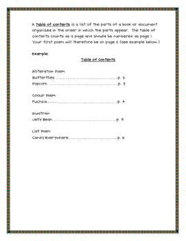 Poetry Portfolio Assignment