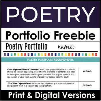 Free Poetry Portfolio Assignment and Scoring Guide