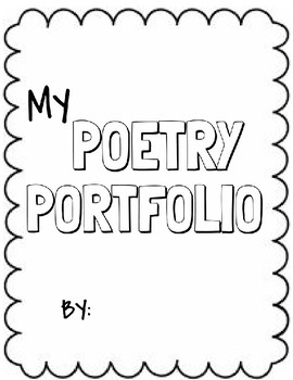 FREE Poetry Portfolio Cover Page