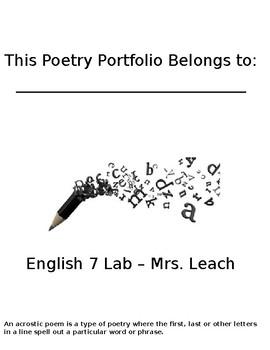 Poetry Portfolio Packet