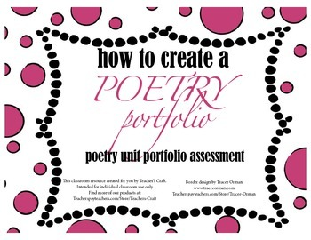 Poetry Portfolio Rubric and Instructions