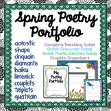 Poetry Portfolio, Spring Theme, Teaching Guide, Sample Poems, Templates