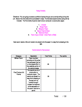 Poetry Portfolio / Workshop