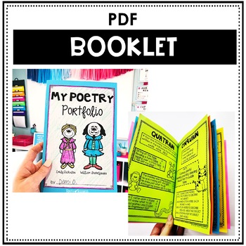 Poetry Booklet with Poetry Anchor Charts and Student Templates