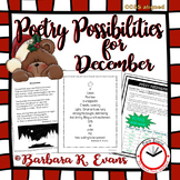 POETRY UNIT: December Poetry Activities, Poetry Elements a