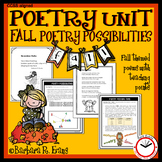 POETRY UNIT: Fall Activities, Poetry Elements, Poetry Writ