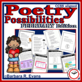 POETRY UNIT: February Poetry Activities, Poetry Forms, Poetry Elements, Writing