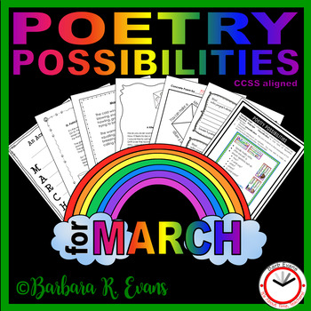 POETRY UNIT: March Activities, Poetry Forms, Writing, Poetry Elements,