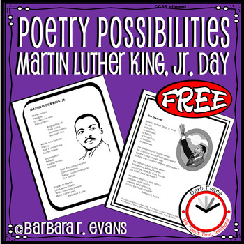 POETRY UNIT MLK Jr. Day Poetry Elements Poetry Forms Writing FREEBIE