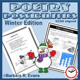 POETRY UNIT Winter Poetry Activities Figurative Language Poetic Elements Writing