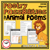 POETRY UNIT: Animal Poems, Poetry Activities, Poetry Elements, Animal Habitats