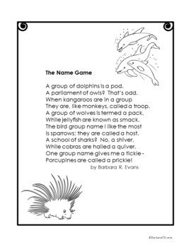 ANIMAL POETRY UNIT  Animal Poems  Poetry Activities  Poetry Elements  Writing
