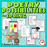 POETRY UNIT Spring Poetry Activities Spring Poetry Writing Poetry Forms