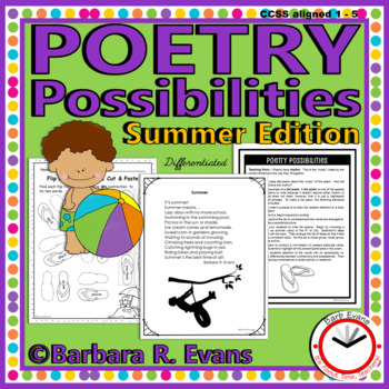 POETRY UNIT: Summer Poetry Activities Poetry Elements Poetry Devices Writing