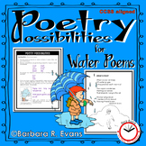 POETRY UNIT: Water Poetry Activities, Poetry Elements, Writing, Poetry Analysis